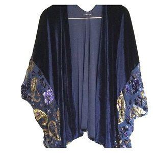 Blue Velvet Kimono